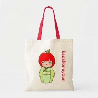 Kokeshi Apple Tote Bag