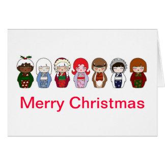 Kokeshi Christmas Card 2