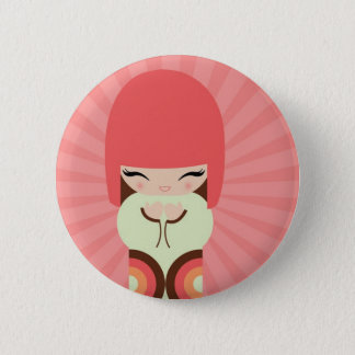 kokeshi doll 2 inch round button