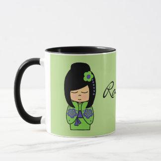 Kokeshi Doll Black 11 oz Combo Mug