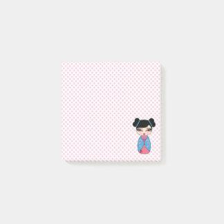 "Kokeshi Doll Pink 3"" x 3"" Post-it® Notes"
