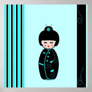Kokeshi doll poster, print, gift idea poster
