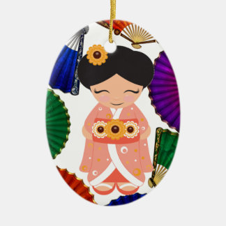 Kokeshi Doll - SRF Ceramic Ornament