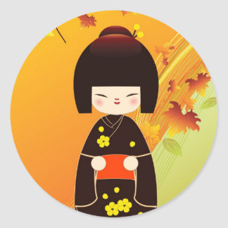 Kokeshi doll to sticker