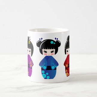 Kokeshi dolls coffee mug