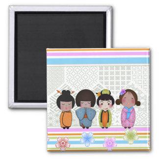 kokeshi dolls magnet