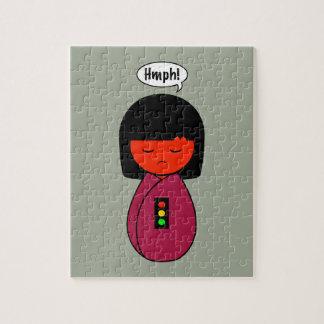 Kokeshi Girl Hmph! Jigsaw Puzzle