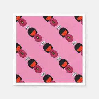 Kokeshi Girl Hmph! Paper Napkin