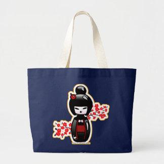 kokeshi-mom large tote bag