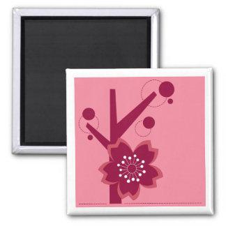 Kokeshi Sakura Kimono Design Magnet