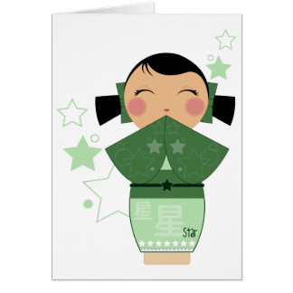 Kokeshi Star Cards