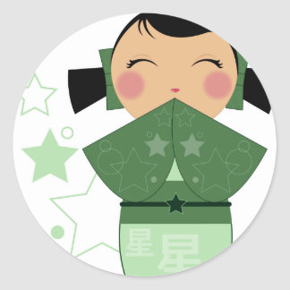 Kokeshi Star Stickers