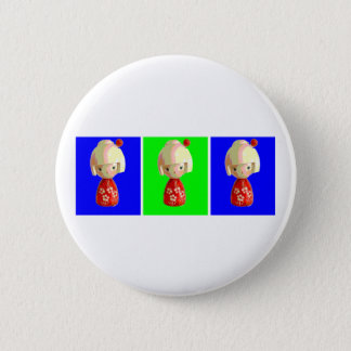 Kokeshi Trio 2 Inch Round Button