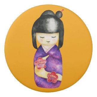 Kokeshi Watercolor Painting Eraser