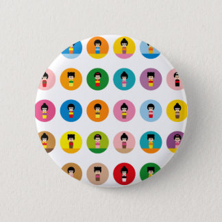 KokeshiAll 2 Inch Round Button