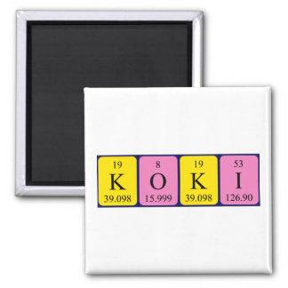 Koki periodic table name magnet