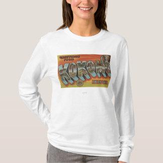 Kokomo, Indiana - Large Letter Scenes T-Shirt