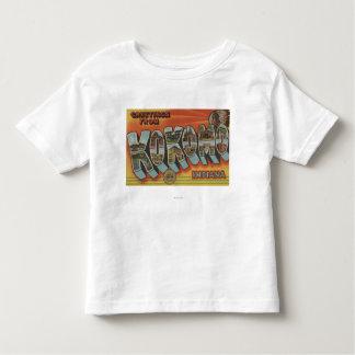 Kokomo, Indiana - Large Letter Scenes Tshirt