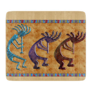 Kokopelli 3D Anasazi Native American Motif Boards