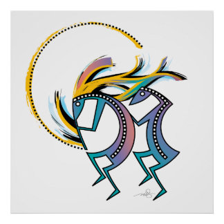 Kokopelli and Kokopelli Mana Poster