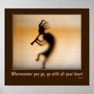 Kokopelli Attitude Quote Inspirational Poster