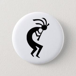 Kokopelli black design! 2 inch round button
