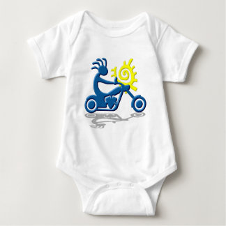 Kokopelli Chopper Baby Bodysuit