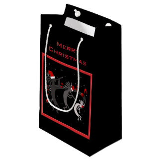 Kokopelli Christmas Small Gift Bag