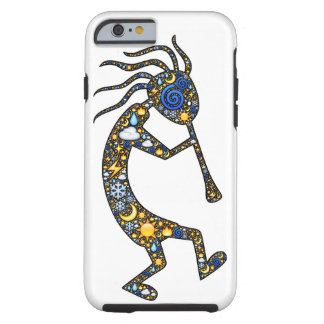 Kokopelli dancing and playing design iPhone case