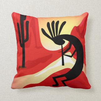 Kokopelli Desert Sunset  Pillow