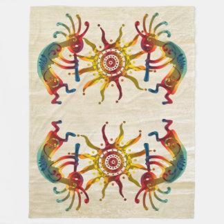 KOKOPELLI DUO SUN + your ideas Fleece Blanket