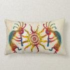 KOKOPELLI DUO SUN + your ideas Lumbar Pillow