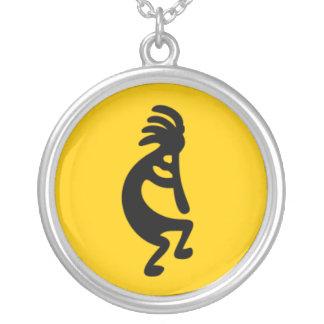 Kokopelli Fertility God Silver Plated Necklace