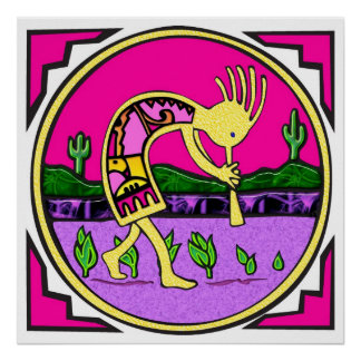 Kokopelli, Flute Player of the Desert Poster
