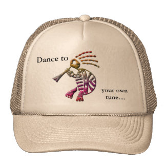 Kokopelli flute player turtle hat