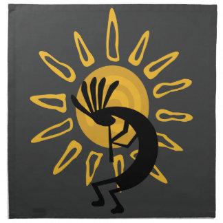 Kokopelli Gold Sun Southwest Dinner Napkin