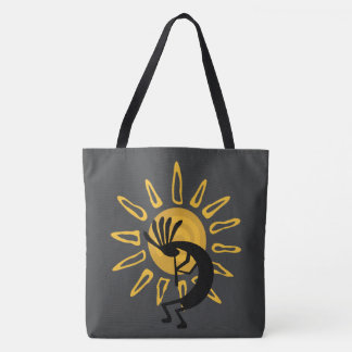 Kokopelli Gold Sun  Southwest Tote