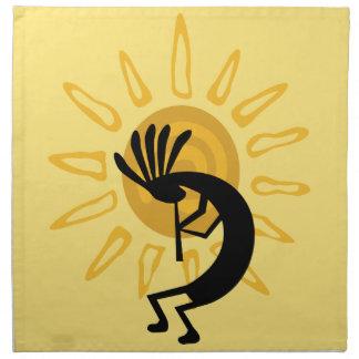 Kokopelli Golden Sun Southwest Dinner Napkin