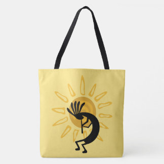 Kokopelli Golden Sun  Southwest Tote