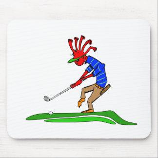 Kokopelli Golfer Mouse Pad
