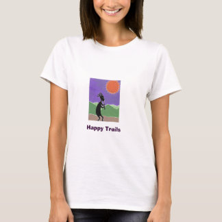 Kokopelli, Happy Trails T-Shirt