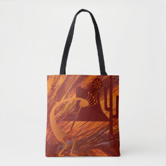 Kokopelli Heat Tote Bag