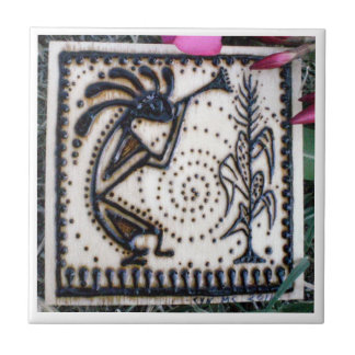 Kokopelli Henna Drawing Tile