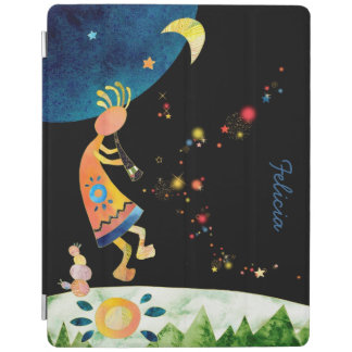 Kokopelli Illustration Magnetic iPad 2/3/4 Covers iPad Cover