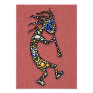 Kokopelli Indian Culture Fertility and Music Deity Poster