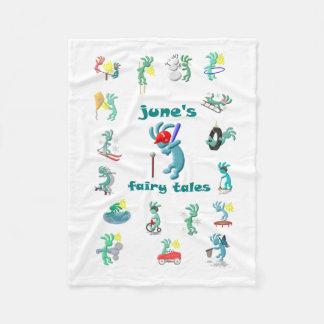 Kokopelli Kids Collage Fleece Blanket