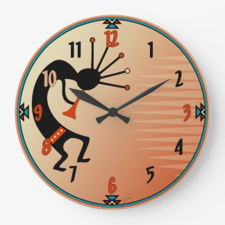 Kokopelli Large Clock