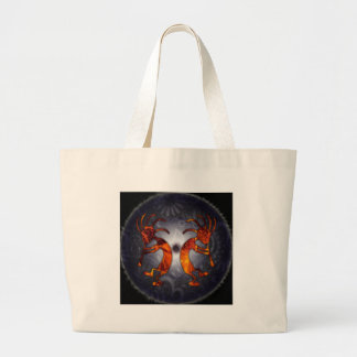kokopelli large tote bag