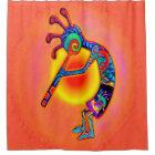 Kokopelli Lizard Sun Shower Curtain