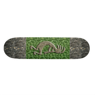 Kokopelli - Marble & Green Rock pattern. Skateboard Deck